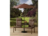 Garden Bistro Set Table and Chairs Pagoda Inca Deluxe Companion Bench Lovely