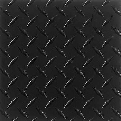 .063 Matte Black Powdercoated Aluminum Diamond Plate Sheet 16 X 48