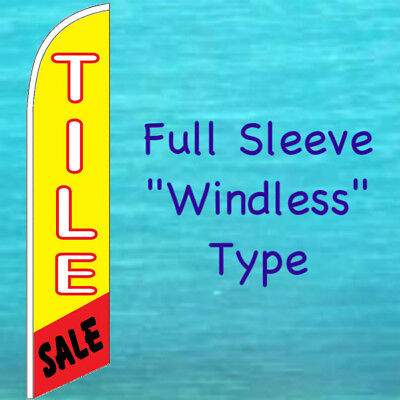 Tile Sale Windless Banner Flag Tall Curved Top Advertising Sign Feather Swooper