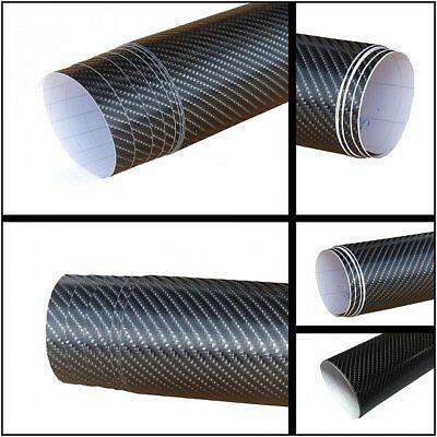 6,2€/m² 4D Carbon Folie - schwarz - 300 x 152 cm flexibel Blasenfrei Auto Folie