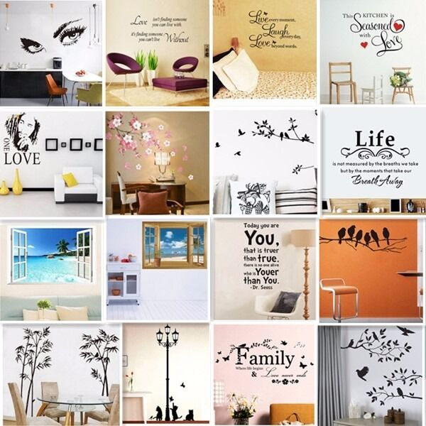 Live Laugh Love Quotes Butterfly Wall Art Stickers Living Room Decal Decor For Sale Online Ebay