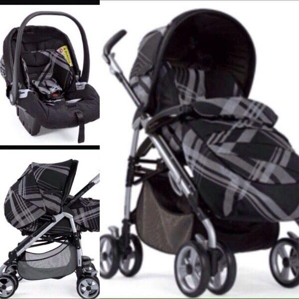 mamas and papas pushchair travel system including car seat - pliko