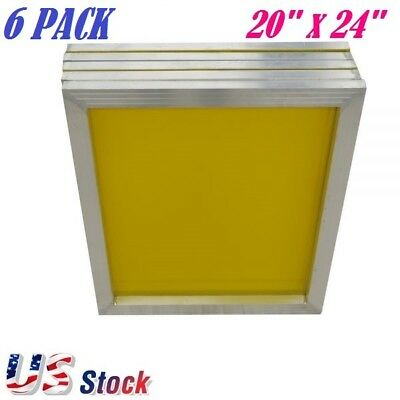 6 Pack Aluminum Frame Silk Screen Printing Screens 20 X 24 200 Mesh Count