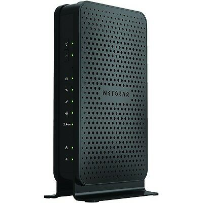 Netgear C3000-100NAS N300 WiFi Cable Modem Router - Black