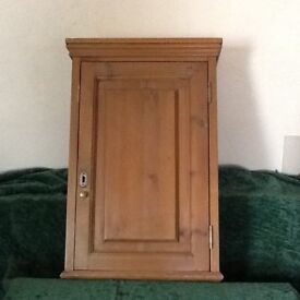 Small pine cupboard with one shelf