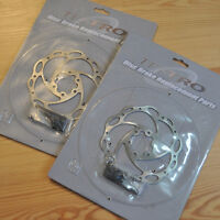 BICYCLE DISC BRAKE ROTOR SET 140MM-GREAT FOR FOLDING, RECUMBENTS