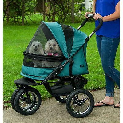 "PET GEAR NO-ZIP DOUBLE PET STROLLER-""1"" COLOR - *FREE SHIPPING IN THE U.S.*"