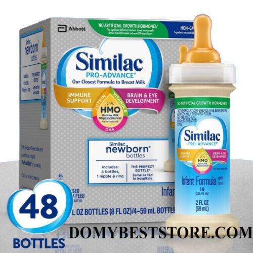 Similac Pro-Advance HMO Infant Formula 2 Fl Oz READY TO FEED 48 BOTTLE EXP 12/21