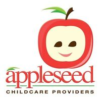 Appleseed Child Care Spaces Available