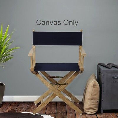 Casual Home Directors Chair Heavy Duty Replacement Canvas, 100% Cotton in Black