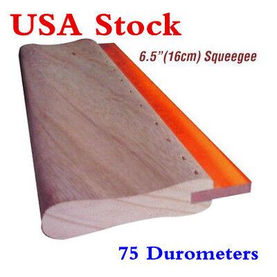 Us 6.5inch Silk Screen Printing Squeegee Ink Scraper Scratch Board 75 Durometers