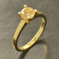 Classic 9K Yellow Gold Filled Size 9 Wedding Engagement Ring
