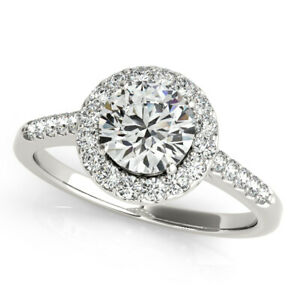 0.40 Carat GIA Certified Round  Halo Diamond Engagement Ring