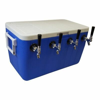 Ny Brew Supply Jockey Box Cooler - 4 Faucet 75 Stainless Steel Coils 48qt