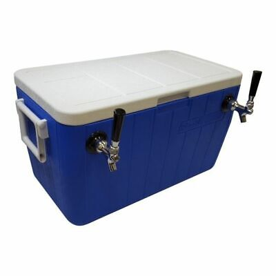 Jockey Box Cooler - 2 Faucet 38 X 50 Stainless Steel Coils 48qt Draft Beer