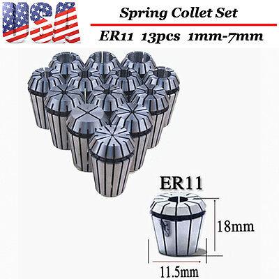 Er11 13pcs Spring Collet Set For Cnc Milling Lathe Tool Engraving Machine