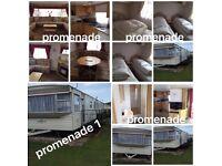 Three 8 berth caravans for hire promenade and sunnymede ingoldmells