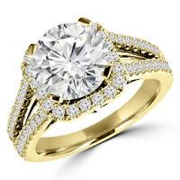 Diamond Engagement Ring 1.60CT Bague de Fiançailles en Or 14k