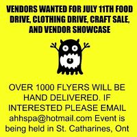 LOOKING FOR VENDORS FOR JULY 11TH CRAFT/VENDOR EVENT