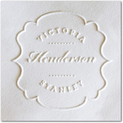 Custom Round Decorative Personalized Shiny Seal Name Embosserweddingchristmas