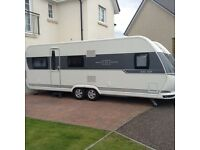Hobby 645 VIP. 2015. Twin Axle. Fixed Bed.