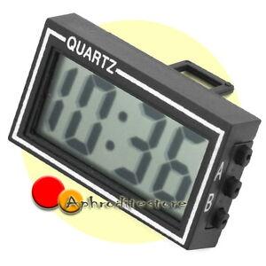 Mini digitale orologio da tavolo calendario display data ore accessorio auto ebay - Orologio da tavolo digitale ...