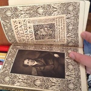 Rare collectble antique book:Essays of Elia. By Charles Lamb