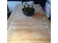 Lovely wood and metal dining table