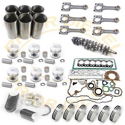 Overhaul Rebuild Kit include Crankshaft+6 Connect Rods For Mitsubishi S6S Engine