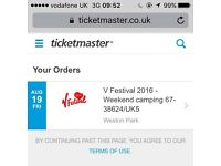 V festival- weekend camping ticket