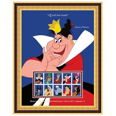 USPS New Disney Villains Queen of Hearts Framed Art