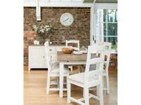French Village Extending Dining Table and 4 Chairs Belfast