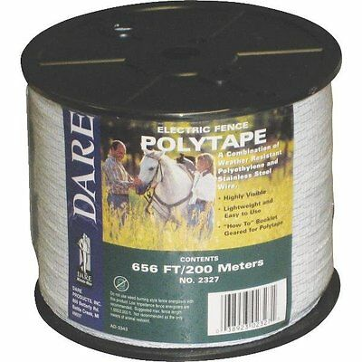 Usa Dare 12 Inch Poly Electric Fence Horse Tape 656ft Farm Ranch Tool Equine