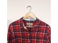 Red Plaid Jack Wills Women's Shirt