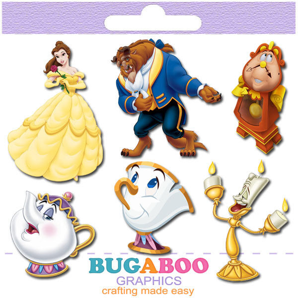 Beauty and the Beast Birthday Party Cut Outs Centerpieces Se
