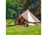 5 Metre Bell Tent With Zipped in Ground Sheet (Cookies and Cream)