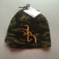 Camouflage with Browning Emblem Winter Hat - Large
