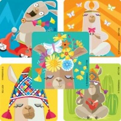 25 Lively llama  Stickers Party Favors teacher supply - Llama Party