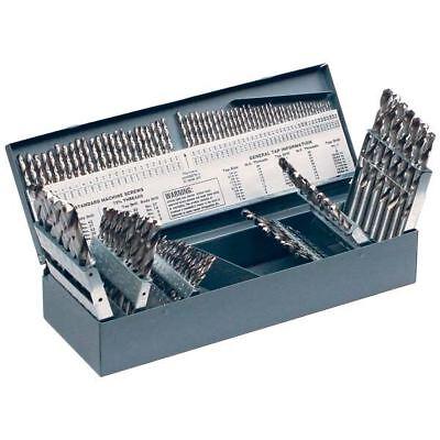 Rushmore A3789-usa 115 Pc Hss 118 3-in-1 Bright Flute Prod. Jobbers Drill Set