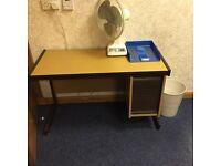 Office desk 1100mm x 500mm built in storage