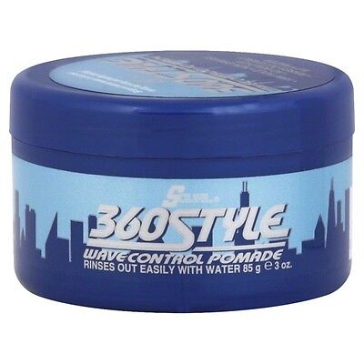 Lusters S-CURL 360 Style Wave Control Pomade 3 oz S-curl 360 Style Pomade