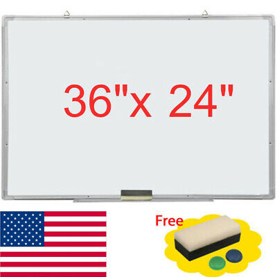 36x24magnetic Dry Erase Board Office Whiteboard W Markereraser2x Magnets Us