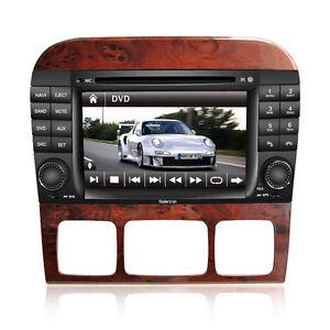 GPS Navigation Satnav DVD Radio for 1999-2006 Mercedes-Benz S-class W220 W215