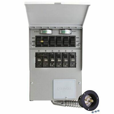 Reliance Controls Protran 2 - 30-amp 120240v 6-circuit Transfer Switch W...