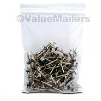 100 9x12 Clear Plastic Zipper Poly Locking Reclosable Bags 2 Mil