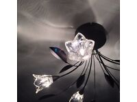 Floral effect ceiling light