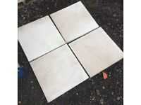 450x450mm Bradstone Aged Riven Grey Garden slabs Paving X 32