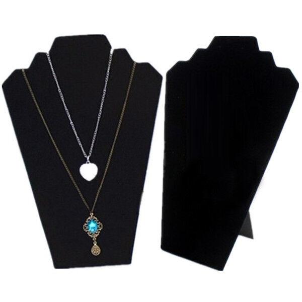 """US Seller~11 1/8""""H Black Velvet Necklace Earring Jewelry Easel Display"""