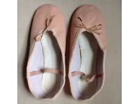 Pink leather ballet shoes size 5.5