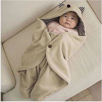 New 1pcs Multifuntion Cute Kid Infant Baby Blanket Swaddle Sleeping Bag Wrap